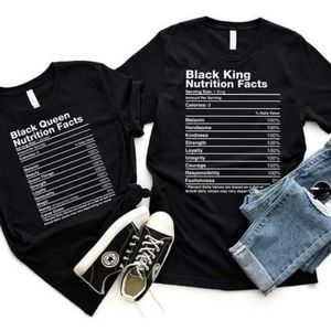 Black King Nutritional Facts Tee